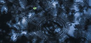 Decision making swirls of water on a blue background